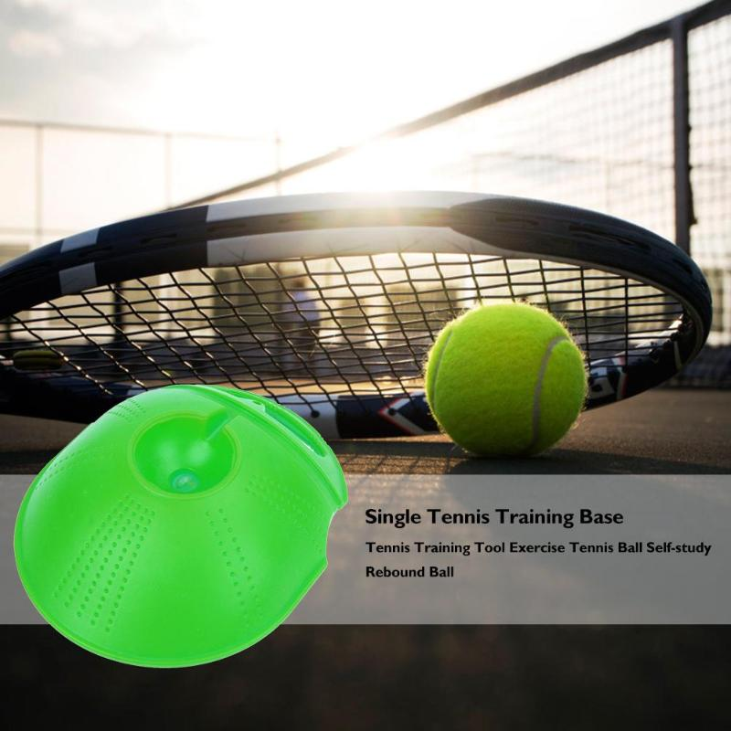 Tennis Training Tool Exercise Ball Sport Self-study Rebound Ball Trainer Baseboard Sparring Device