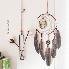 New nordic-style owl dreamcatcher interior decoration bedroom pendant gift valentine sister