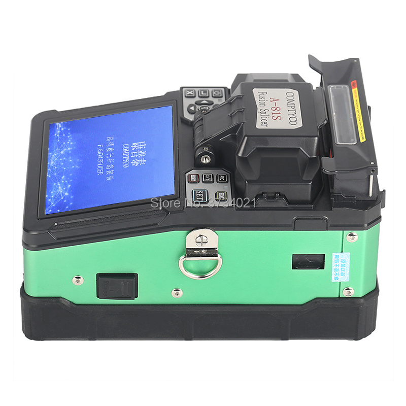A-81S Fully Automatic Fusion Splicer Machine Green Fiber Optic Fusion Splicer Fiber Optic Splicing Machine A-81S