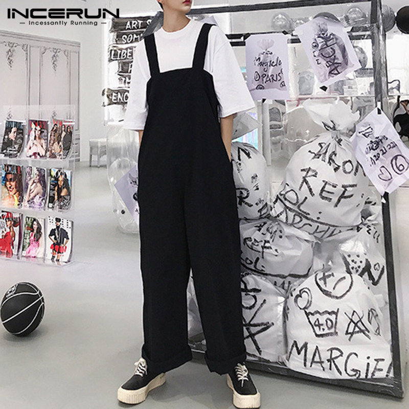 Brand Baggy Men Wide Legs Pants Loose Fit Big Trousers Male Bottom Jumpsuits Overall Coveralls Playsuits Jumpsuits 5XL Hombre