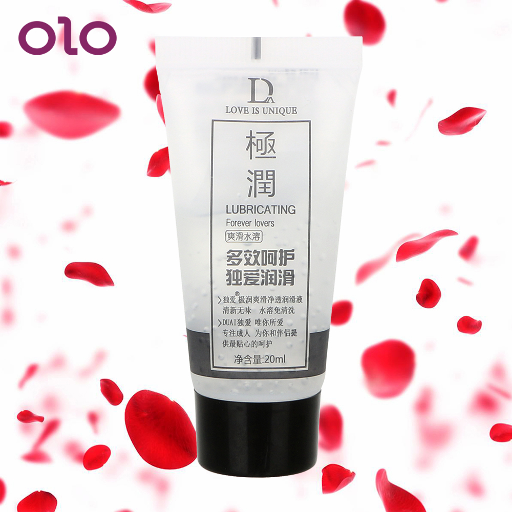 OLO Adult Sex Lubricants Water Lube Vagina Anal Lubricants Sexual Enhancement Massage Oil Sex Toys For Women And Men 20ML