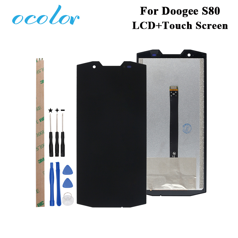 ocolor For Doogee S80 LCD Display and Touch Screen Digitizer Assembly Replacement With Tools Adhesive For