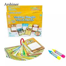 Magic Graffiti Letter Kids Cognitive of Book Water Card Toys Made friendly eco 26pcs Painting Education Pens paper