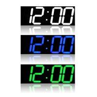 Remote Control 3D LED Wall Clock Digital Table Desktop Alarm Clock Nightlight Saat Wall Clock For Home Living Room Office