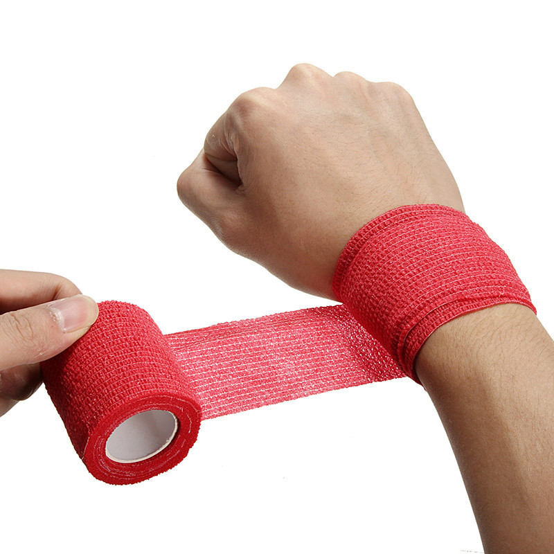 RORASA 5 Colors Disposable Self Adhesive Elastic Bandage For Handle With Tube Tightening Of Tattoo Accessories Knee Muscle Tape
