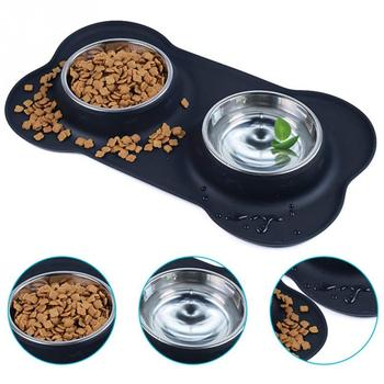 Stainless Steel Double Bowl with Silicone Mat  3