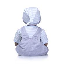 22″ Black African American Reborn Baby Doll Boy Vinyl Silicone Baby Cloth Body Lifelike