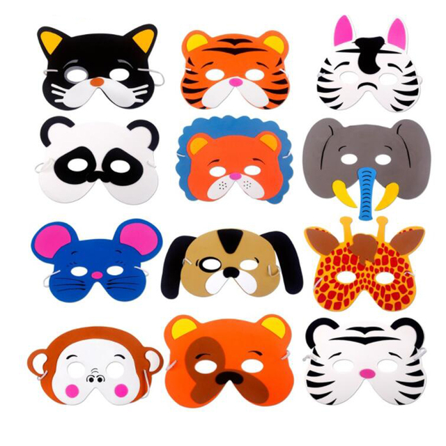 Creative 10Pcs Funny EVA Children Animal Mask Mask Kids Woodland Farm Dress Prop Birthday Party Decoration