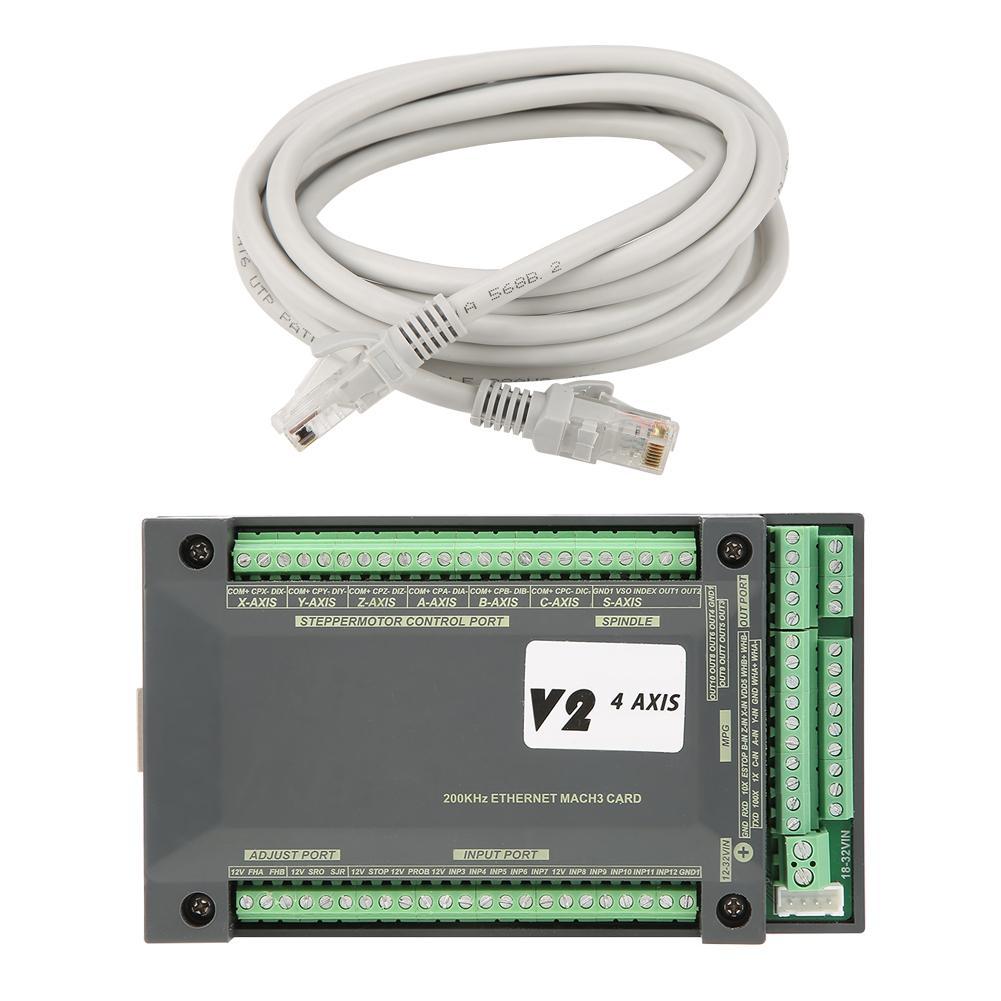 Nuovo 4 Assi Nvem Cnc Controller Ethernet MACH3 Scheda di Controllo Del Movimento per Motore Passo a Passo
