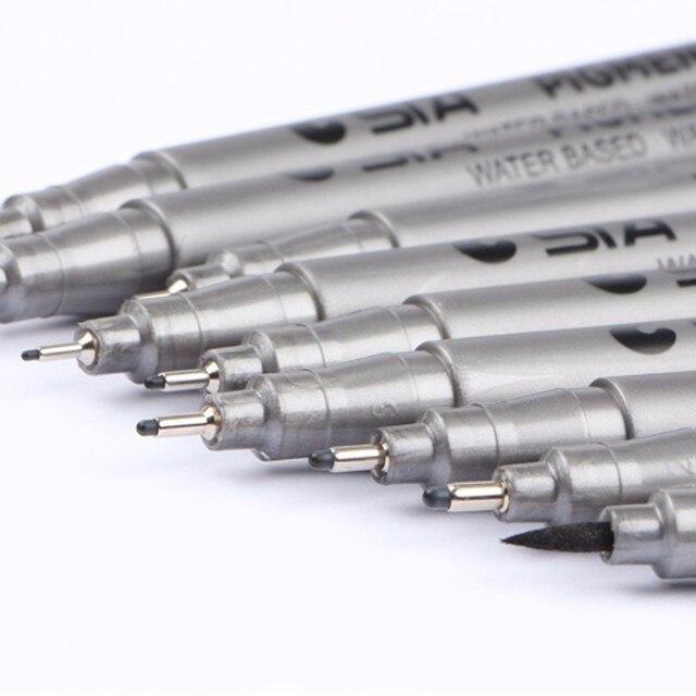 STA1PCS Pigment Liner Pigma Micron Ink Marker Pen 0.05 0.1 0.2 0.3 0.4 0.5 0.6 0.8 Different Tip Black Fineliner Sketching Pens 4