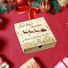 Christmas Wooden Gifts - Carving Christmas Eve Box - Custom Wooden Christmas Box Apple Box Gift Box