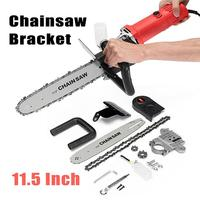 Multifunction DIY Electric Chain Saw Converter 11.5 Chainsaw Bracket Woodworking Tool for 100mm Electric Angle Grinder