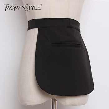 TWOTWINSTYLE Plaid Belt For Women High Waist Bandage Pocket Cummerbund Belt Female Elegant Spring Tide 2020 Fashion - DISCOUNT ITEM  39 OFF Apparel Accessories