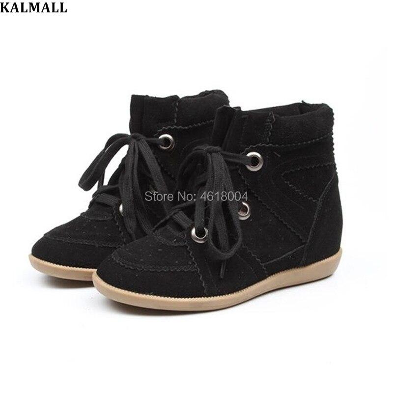 Cales Bottes Bobby Mode Cuir Hauteur En Pictures Croissante Véritable De as Noir Bottines Femmes Chaussures Kalmall Sneakers rouge Casual twqBC