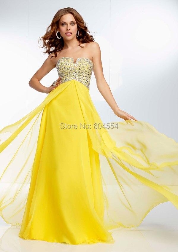 Vestidos de fiesta amarillos 2015
