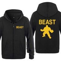 Beast Mode MMA Fitness Hoodies Men 2018 Men's Fleece Zipper Cardigans Hooded Sweatshirts