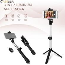 CASEIER Tripod Bluetooth Selfie Holder Stick For Mobile Phone Selfie Handheld Aluminum Stick For iPhone X XR XS Max 8 7 6 Plus все цены