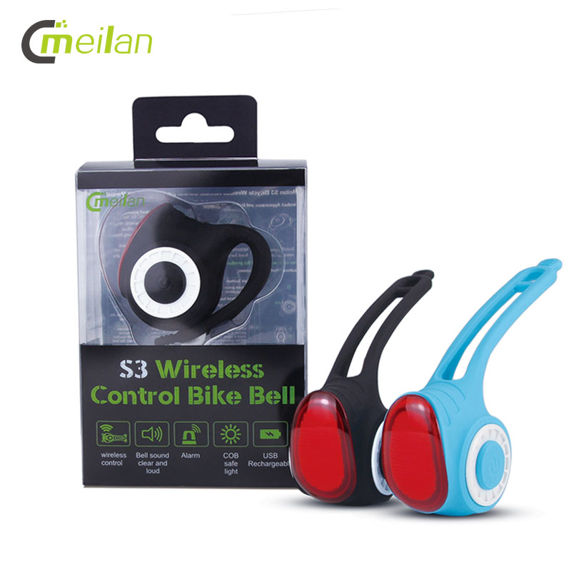 Meilan S3 Bike Light COB Bell Anti-Theft Alarm Wireless Bicycle Rear Lantern Tail Lamp USB Charging Cycling Safety Lights