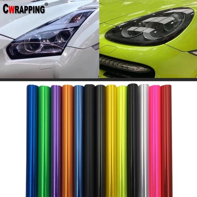 40*150 cm faro de coche luz trasera humo niebla luz tinte DIY película vinilo envoltura pegatina multicolores decoración calcomanías Coche estilo