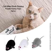 Mécanisme d'enroulement de chat souris en peluche Rat chaton tour de taquin jouets interactifs pour chat chaton jouant jouet chat produits