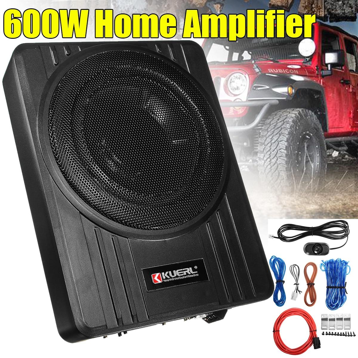 Car Subwoofer Amplifier-Amp Car-Speaker Powered Super-Bass Under-Seat 10inch 600W Slim