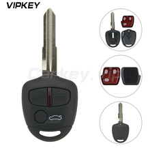 Remotekey 3 Button 434MHZ ID46 Chip Keyless Remote Control Car Key Fob For Mitsubishi Lancer Outlander Shogun Pajero MIT8 blade цена 2017