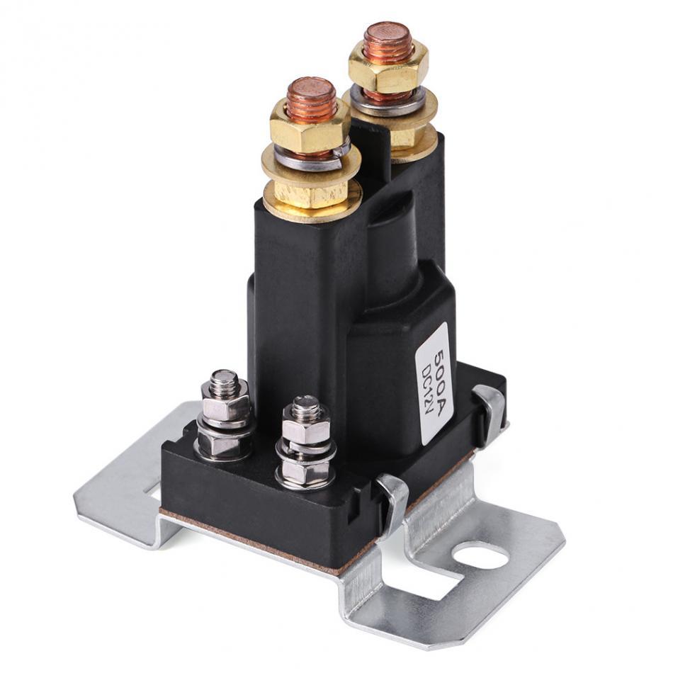 Relais de démarrage à courant élevé 500A cc 12V SPST contacteur de démarrage automatique