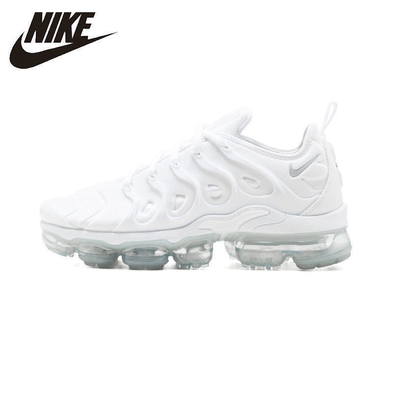 Nike Official Air Vapor Max Plus Mans Running Shoes Breathable Comfortable Outdoor Sports Sneakers #924453-100