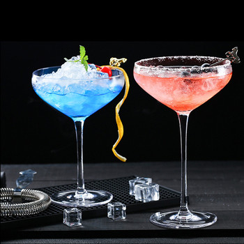 1PC Butterfly Shape Cocktail Champagne Glass Europe Lead-free Crystal Glass Wine Cup Dessert Ice Cream Container Home Goblet Cup