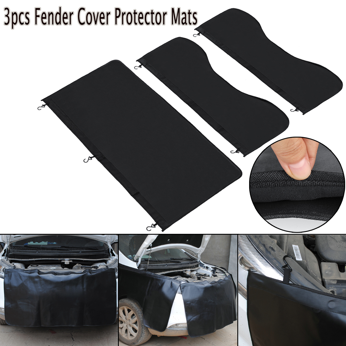 3pcs Universal Car Magnetic Fender Cover Protector Mechanic Work Mat Auto Repairing Pad Car Covers    - AliExpress