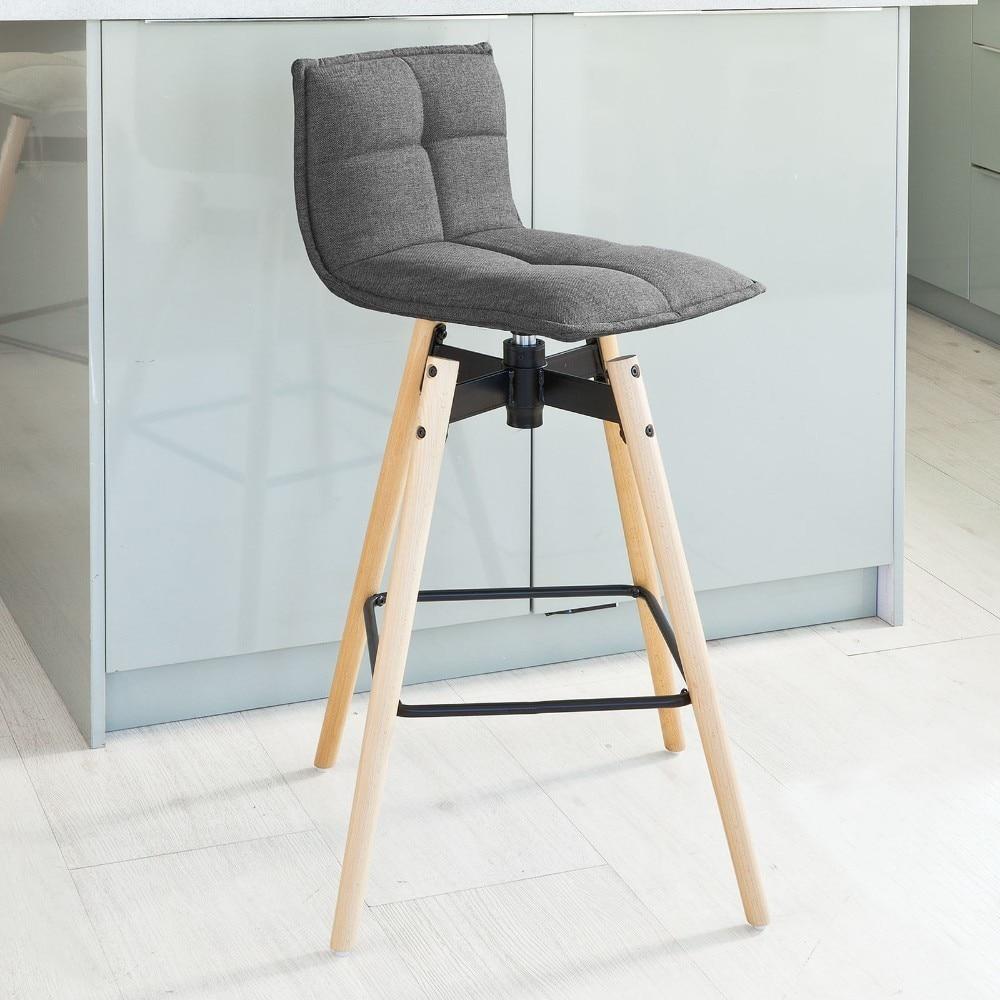SoBuy FST45-DG, Swivel Kitchen Breakfast Barstool,  Rotating Bar Stool Chair With Backrest