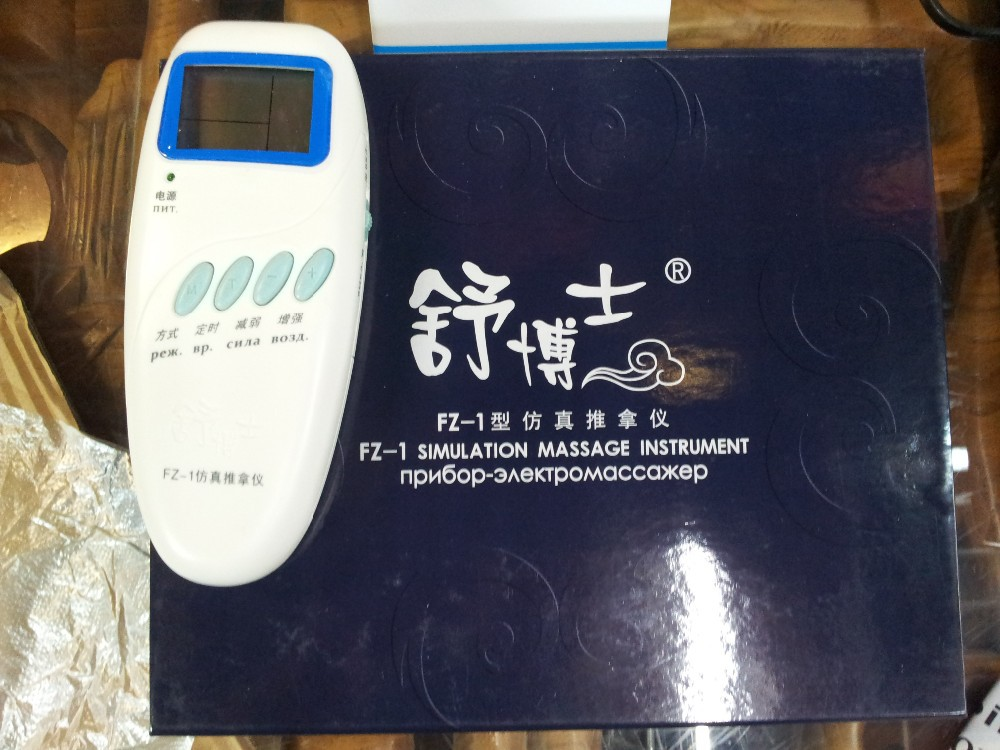 ACUPHUATUO Electric-Massager-Device Electronic-Acupuncture-Instrument Misha Manual-English-Or-Russian-Tea