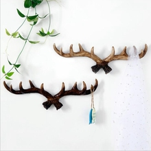 American country antler wall hanging retro creative decoration living room porch clothing store