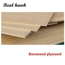 Planche de contreplaqué de basswood, matériaux de modélisation en bois, super qualité, 1/1 x x, 5/2/3/4/5/6mm, bricolage