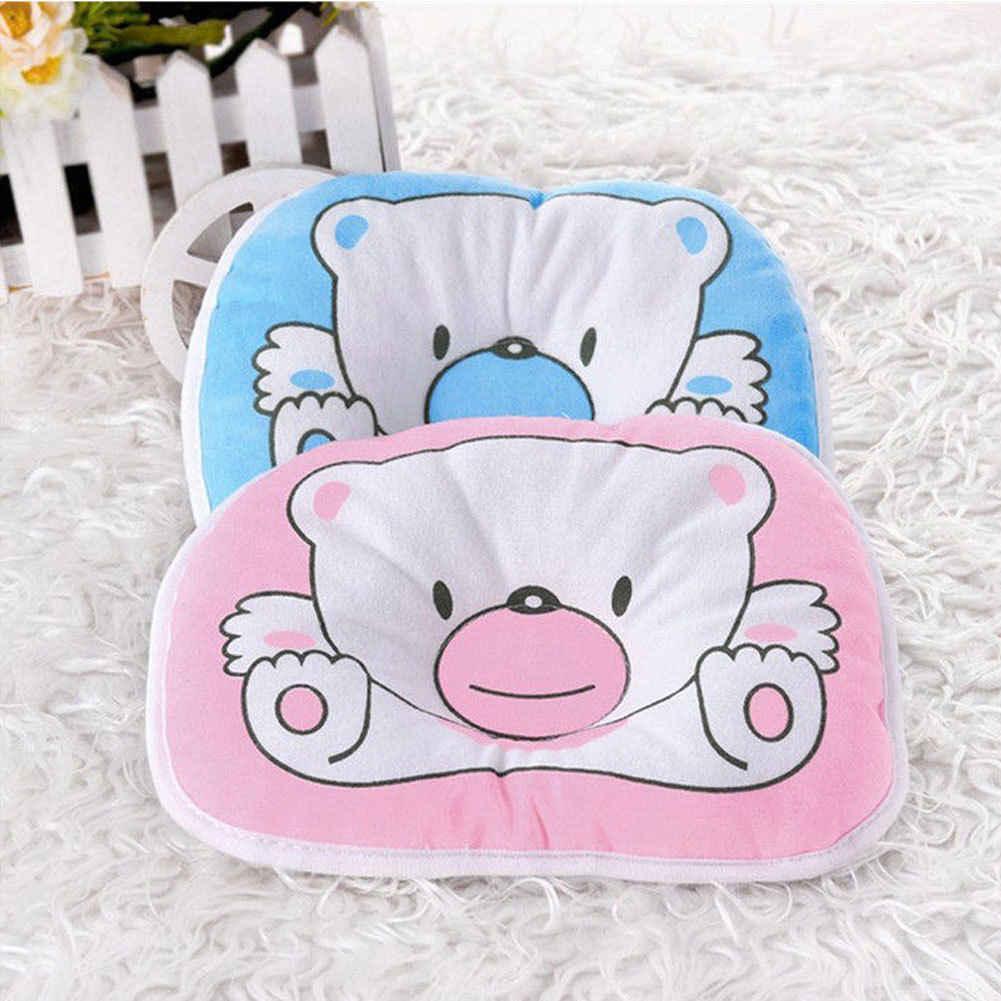 Для новорожденного ребенка подушка памяти пены позиционер предотвращает плоскую голову против скатывания мультфильм Мини Подушка для детей