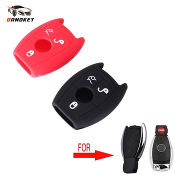 Dandkey 3 buttons Silicone Car Key Cover Case For Mercedes Benz W203 W211 CLK C180 E200 AMG C E S C Protector Case Cover image