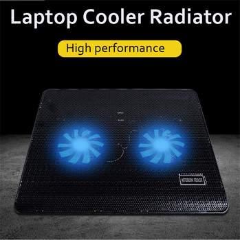 Бесшумная охлаждающая подставка для ноутбука 10-17 дюймов с подсветкой для ноутбука, Профессиональная Большая охлаждающая подставка для вен...