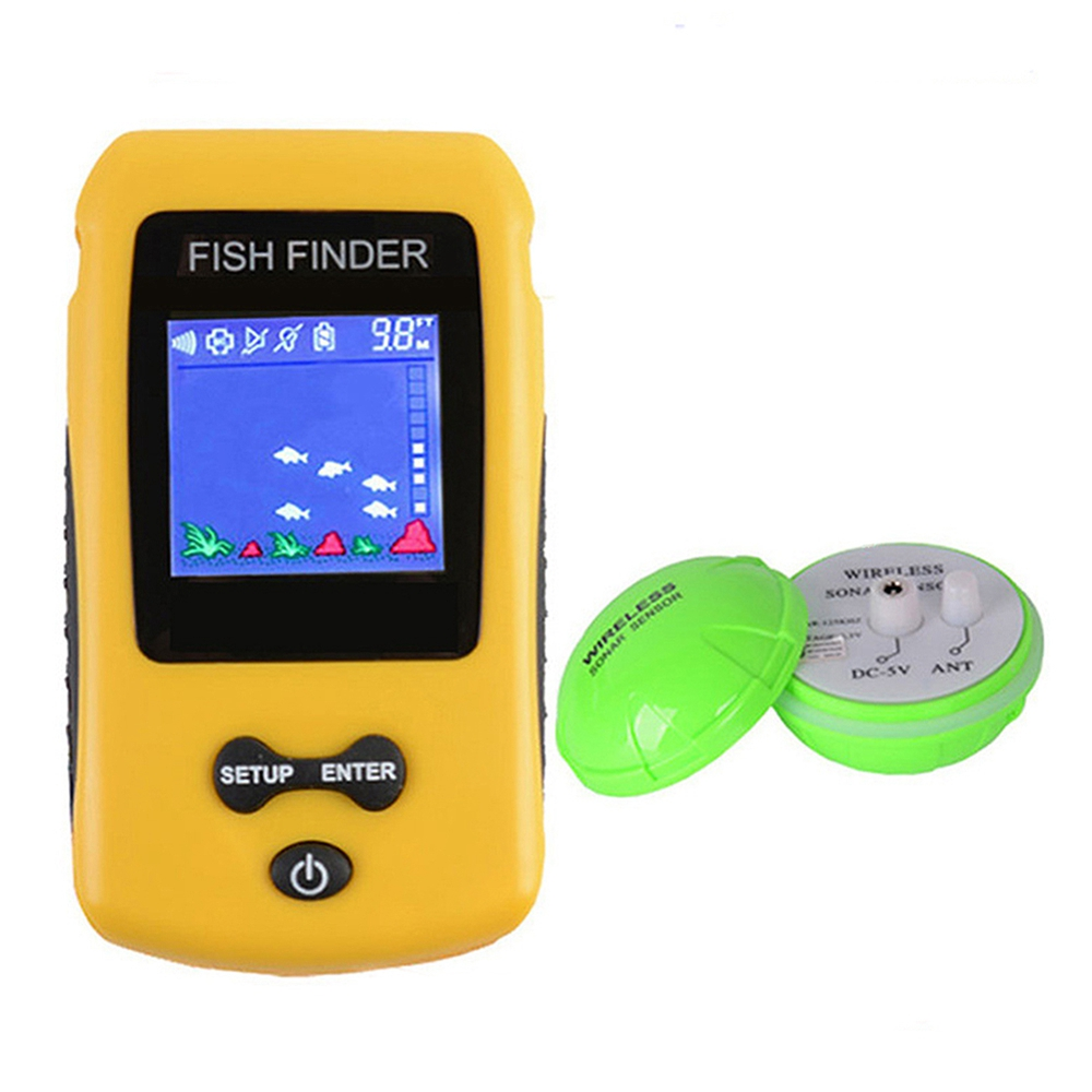 HOT-Rechargeable Portable Wireless Fishfinder Sonar Sensor Handheld Lcd Display FishingHOT-Rechargeable Portable Wireless Fishfinder Sonar Sensor Handheld Lcd Display Fishing