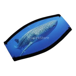 Neoprene Soft Diving Mask Strap Cover Water Sports Snorkeling Hair Strap Underwater Surfing Protector Diving Gear Whale Pattern(China)