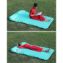 New Waterproof Camping Tent Air Mats Outdoor 2 Person Inflatable Camping Mat Sleeping Cushion Picnic Beach Rest Soft Mattress(China)