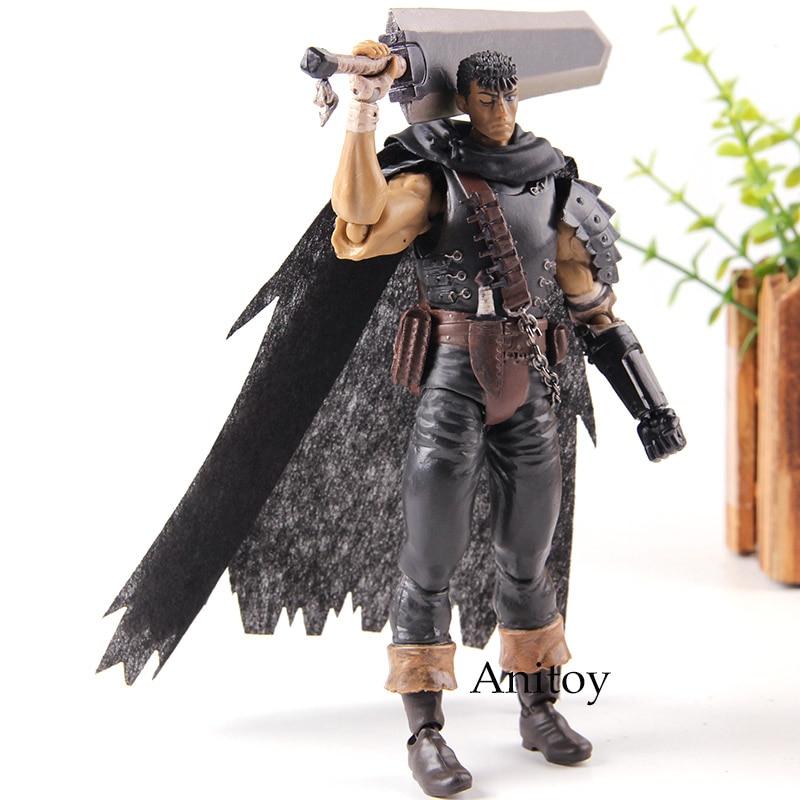 Guts Berserk Black Swordsman Ver. Repaint Edition Figma 359 PVC Figma Action Figure Anime Collection Model Toys for Boys Gifts denim