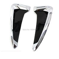 2Pcs/set ABS Car Front Fender Side Air Vent Cover Trim Car styling For BMW X Series X5 Shark Gills Side Vent Sticker