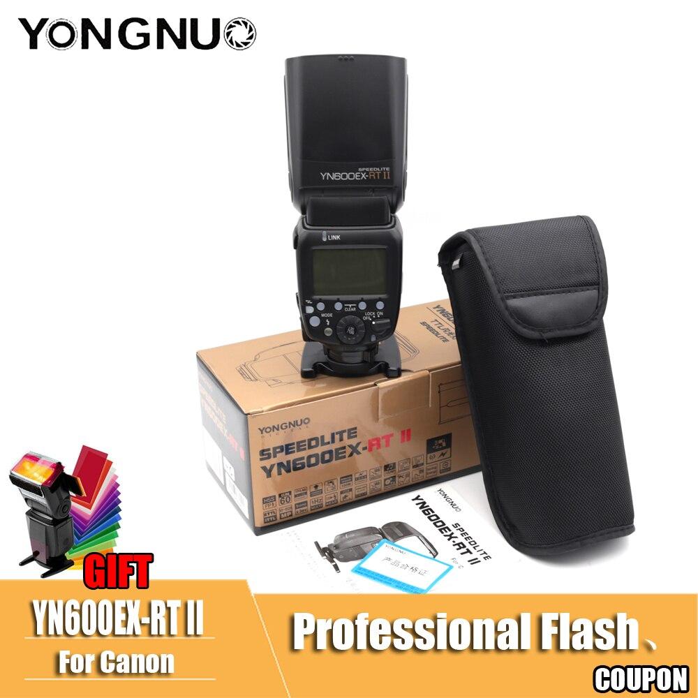 YN600EX-RT II 1 Mestre TTL Flash Speedlite para Canon Sem Fio 2.4G/8000 s HSS GN60 Auto Zoom Manual como 600EX-RT YN600EX II RT