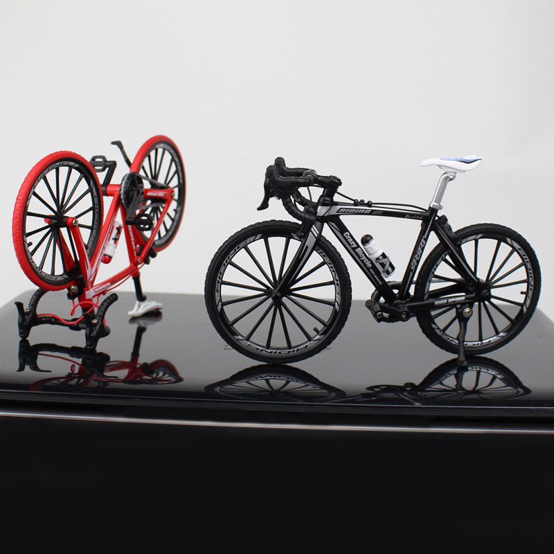 1:10 Creative Mountain Bike Alloy Diecast Bicycle Model Toys Simulated Bicycle Pendulum Racing Cycle Cross Gift Decor Collection
