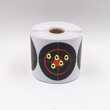 250 piezas adhesivas de rollo de tiro blanco 7,5 cm de diámetro de salpicaduras de tiro pegatinas para de interior y al aire libre deporte