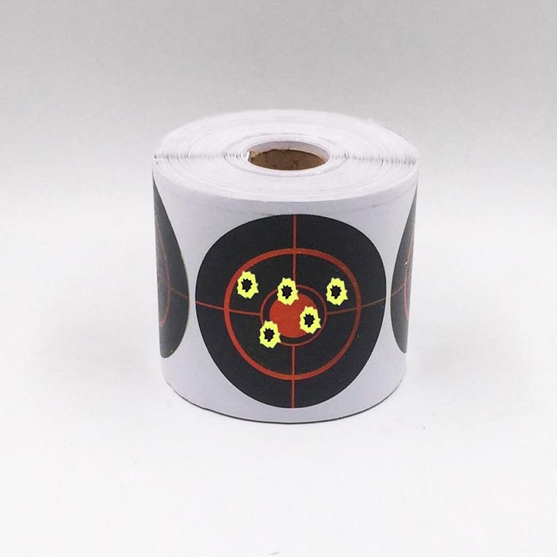 250Pcs Roll Adhesive Shooting Target Diameter 7.5 cm Splatter Target Shooting Stickers Set for Outdoor and Indoor Sport