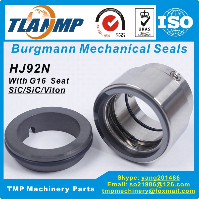 HJ92N 30 G16 HJ92N 30 G16 Burgmann Mechanical Seals With G16 Seat Shaft Size 30mm Material
