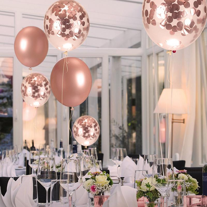 US $6.46 39% OFF|30pcs/set Rose Gold Balloon Wedding Party Home Interior  Dress Up Birthday Glow Party Balloons Decorations Party Supplies-in Ballons  & ...