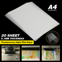 Paper-Screen Inkjet-Film Transparent Printing 20-Sheet A4 Stencil-Design Non-Waterproof-Thickness