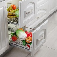 Keuken Mutfak Malzemeleri Despensa Gabinete Dish Rack Organizador Stainless Steel Cocina Cuisine Kitchen Cabinet Storage Basket